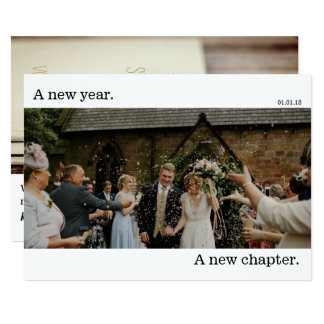 New Years Wedding Photo Card Announcement