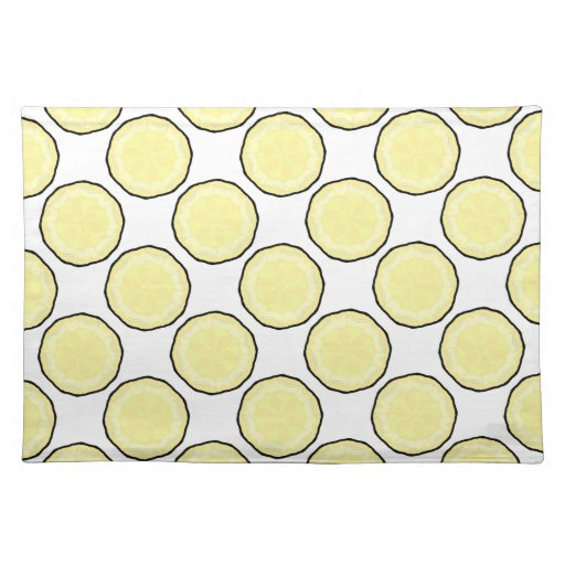 New Yellow White Designer Placemat Gift Zazzle