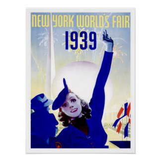 New York 1939 World's Fair Vintage Poster