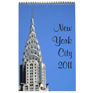 new york 2011 15 month single page calendar