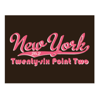 New York 26 2 Pink Marathon Postcard