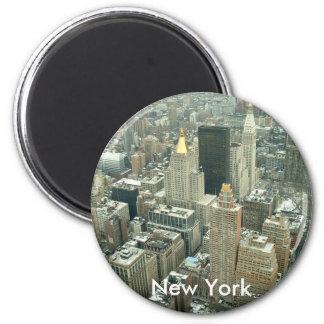 New York 2 Inch Round Magnet