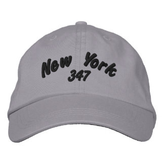 New York 347 area code. Embroidered Hat