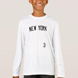 NEW YORK #3 KIDS SPORT TEK HIGH PERFORMANCE SHIRT