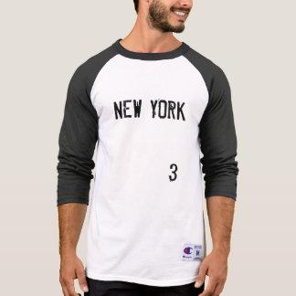 NEW YORK #3 MEN'S CHAMPION 3/4 SLEEVE RAGLAN T-Shirt