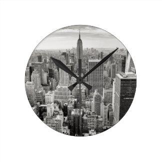 New York 4 Round Clock