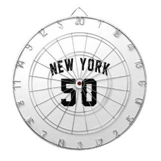 New York  50 Birthday Designs Dartboard