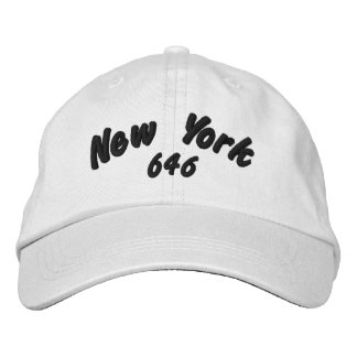 New York 646 area code. Embroidered Baseball Hat