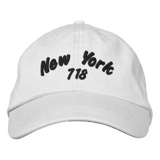New York 718 area code. Embroidered Baseball Hat