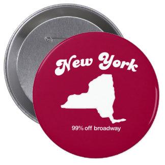 New York - 90 percent off Broadway T-shirt Pinback Buttons