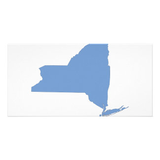 New York A Blue State Photo Card Template