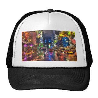 new york abstract street city night rain hats
