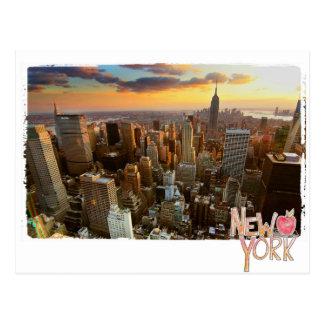 New York aerial view Postcard