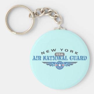 New York Air National Guard Basic Round Button Keychain