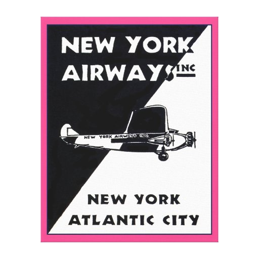 New York Airways Poster Wrapped Canvas Canvas Print