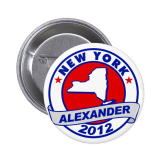 New York Alexander Pinback Button