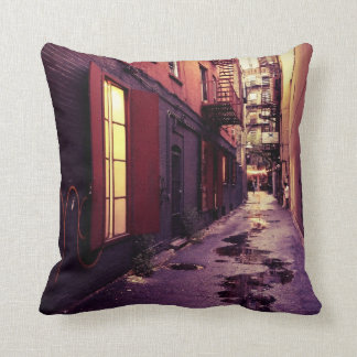 New York Alley Throw Pillow