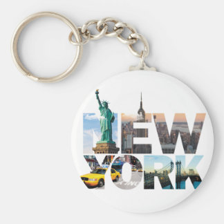 New York Alphabet Montage Keychain
