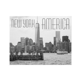 New York America: Stretched Canvas Giclee