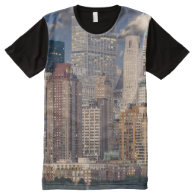 New York American All-Over Printed Panel T-Shirt All-Over Print T-shirt