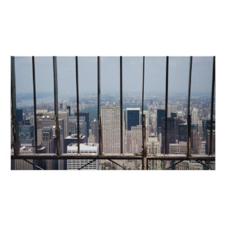 New York and Central Park from Empire State Bldg. Poster