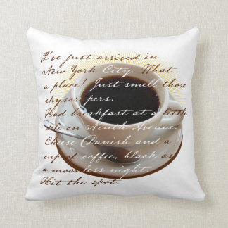 New York and Coffee Throw Pillows