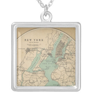 New York and its Environments Square Pendant Necklace