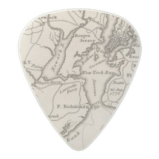 New York and New Jersey Region Acetal Guitar Pick