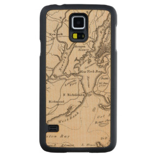 New York and New Jersey Region Carved Maple Galaxy S5 Slim Case