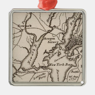 New York and New Jersey Region Metal Ornament