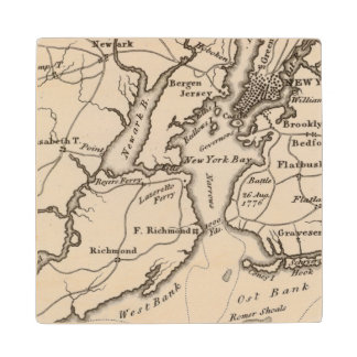 New York and New Jersey Region Wood Coaster