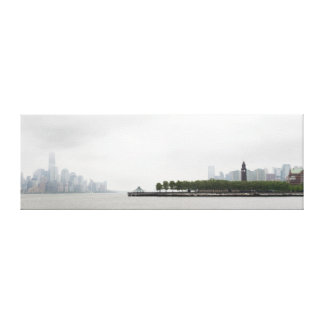 New York and New Jersey Skyline in the Fog Gallery Wrapped Canvas