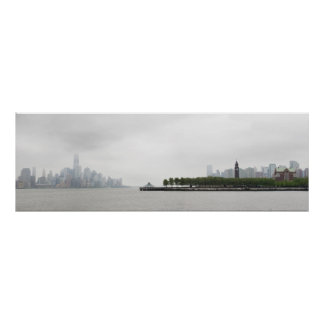New York and New Jersey Skyline in the Fog Poster