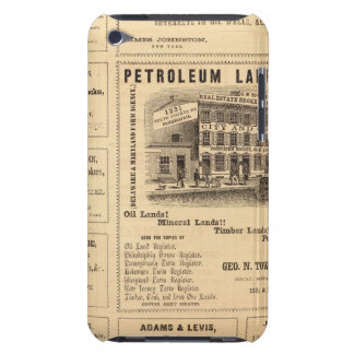 New York and Pennsylvania Oil Advertisements iPod Touch Cases