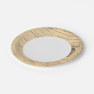 New York and Pennsylvania Oil Advertisements Paper Plate