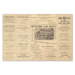 New York and Pennsylvania Oil Advertisements Tissue Paper