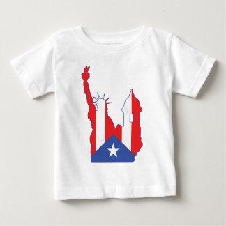 new york and puerto symbol merged baby T-Shirt