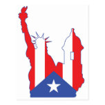 new york and puerto symbol merged post cards