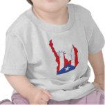 new york and puerto symbol merged shirts