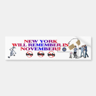 New York - Anti ObamaCare, New Taxes & Spending Car Bumper Sticker
