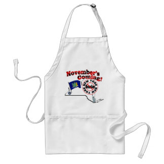 New York Anti ObamaCare – November's Coming! Adult Apron