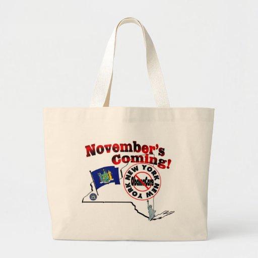 New York Anti ObamaCare – November's Coming! Bags