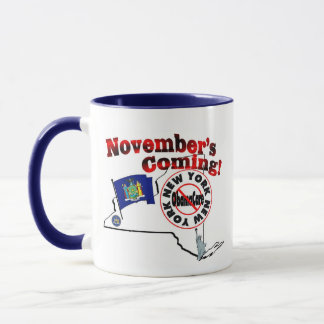 New York Anti ObamaCare – November's Coming! Mug