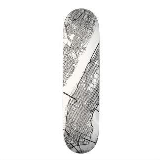 New York | Any City Street Map Skateboard