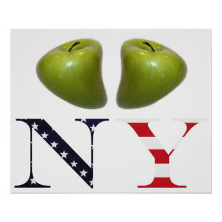 New York Apples Logo Poster Print