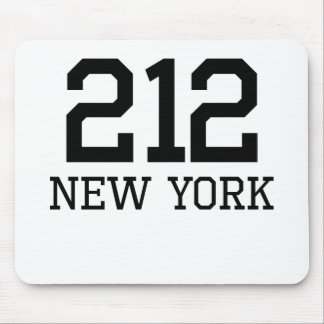 New York Area Code 212 Mouse Pads