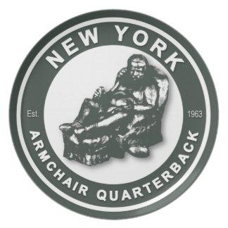 New York Armchair Quarterback Plate
