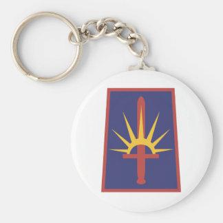 New York Army National Guard Basic Round Button Keychain