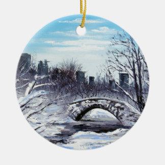 New York Art, Central Park, Landscape Ceramic Ornament