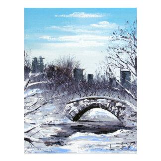 New York Art, Central Park, Landscape Letterhead